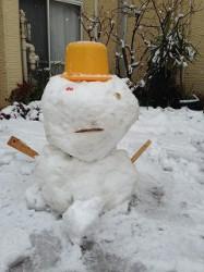 雪だるま正面