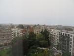 ホテルからのブリュッセルの景色。ベルギーは曇りや雨の日がとても多いらしい