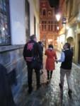 澤町のはっぴとベルギーの街並み