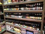 ベルギービール屋さんの棚